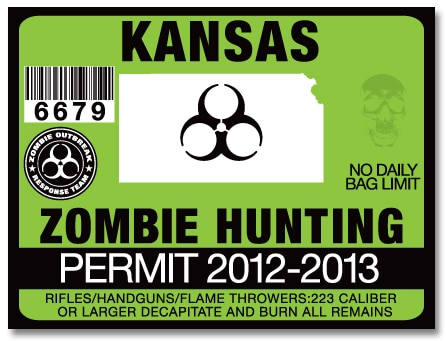 Kansas governor sam brownback to name october zombie for Kansas out of state fishing license
