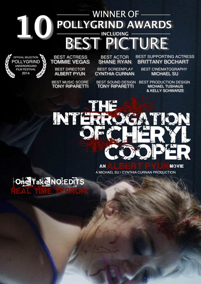 Interrogation Polly Laurels - New Key Art for The Interrogation of Cheryl Cooper; Updated PollyGrind Screening Details; First Word on Algiers