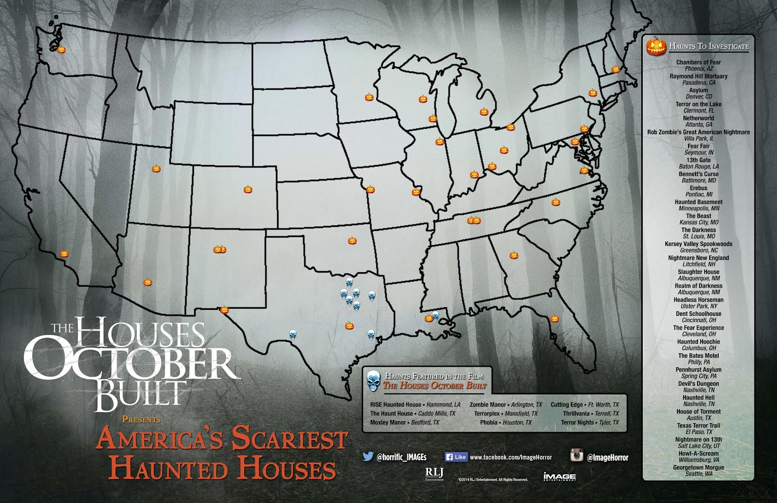 America S Scariest Haunts As Pointed Out By The Houses October Built