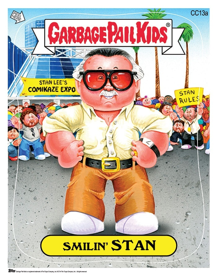 Comikaze Expo 2014 Stan Lee And Other Iconic Figures Become Garbage Pail Kids Dread Central