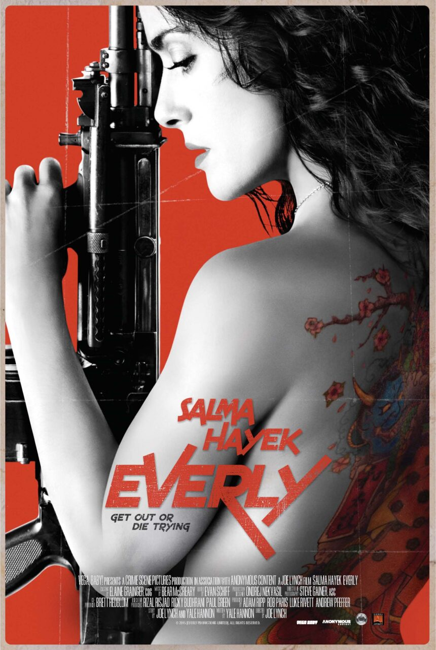 EVERLY Final international Poster11 scaled - Exclusive: Joe Lynch Talks Everly's Insane Realism, Salma Hayek's Heart, and More!