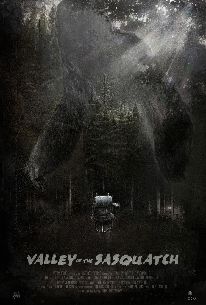 Sasquatch Poster - Valley of the Sasquatch Artwork Recalls Classic Bigfoot Flicks
