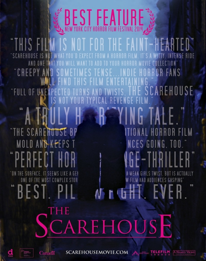 The Scarehouse Movie Poster Official - The Scarehouse Cast Members Get Pranked; New Stills and Clips