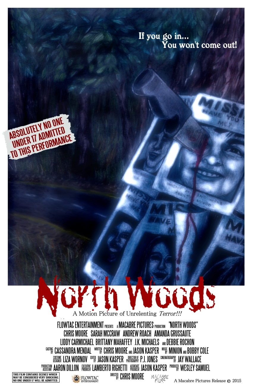 north woods poster1 - Surprise! Here's a Gory New Clip from North Woods!