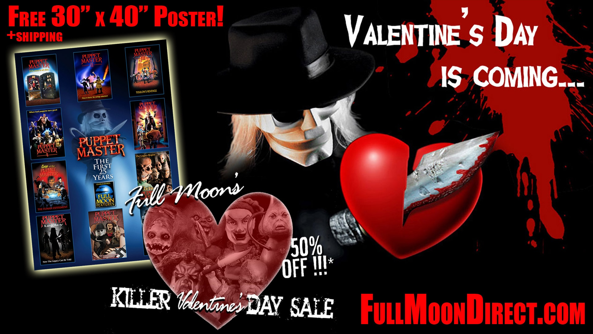 Valentines Day Sale 2015 Free Poster - Win an Evil Bong on 4/20 From Full Moon and Dread Central!