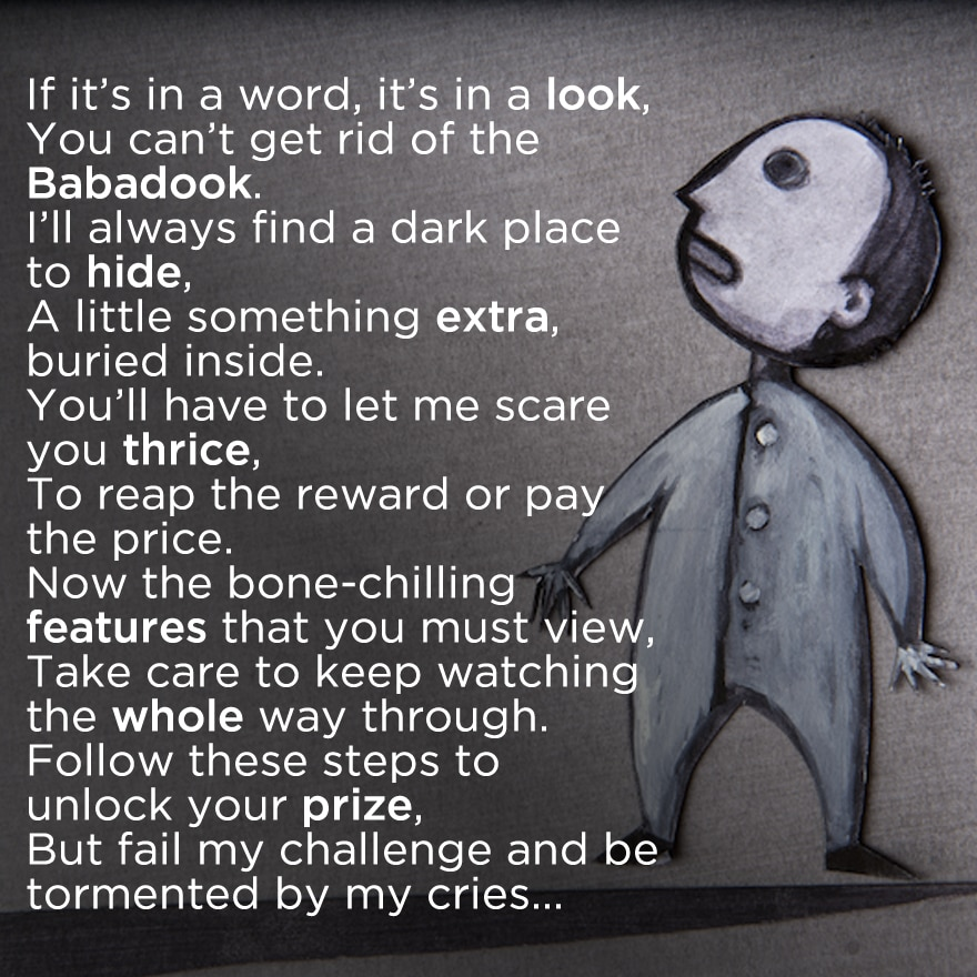 baba - Riddle Teases Hidden Content on UK Home Video Release of The Babadook