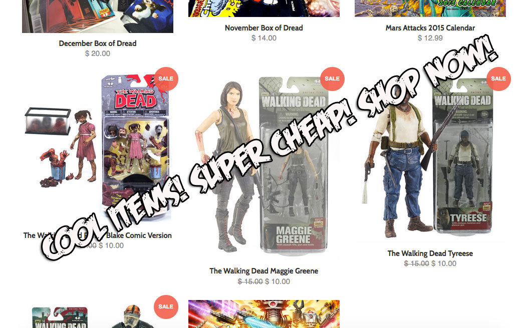Box of dread opens online store get cool collectibles for Cool cheap online stores