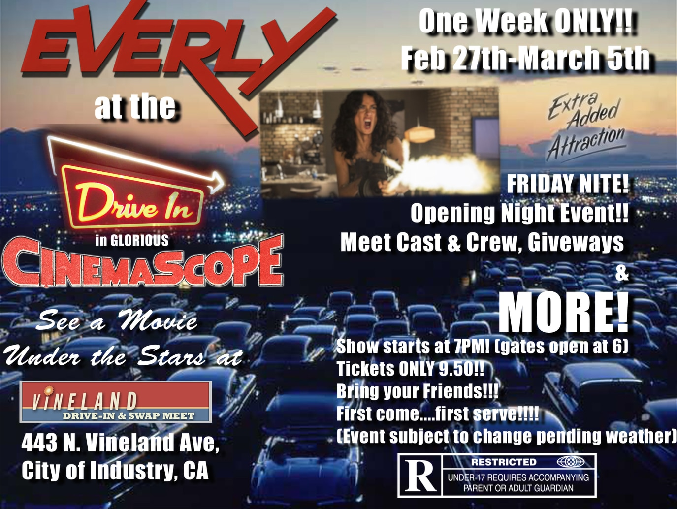 everly - UPDATE: Two Everly Events This Weekend Including Opening Night at The Vineland Drive-In