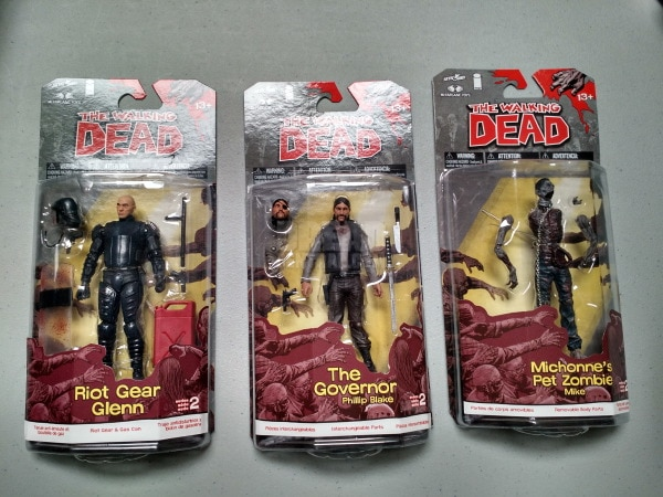 The Walking Dead figures for Box of Dread selfie contest