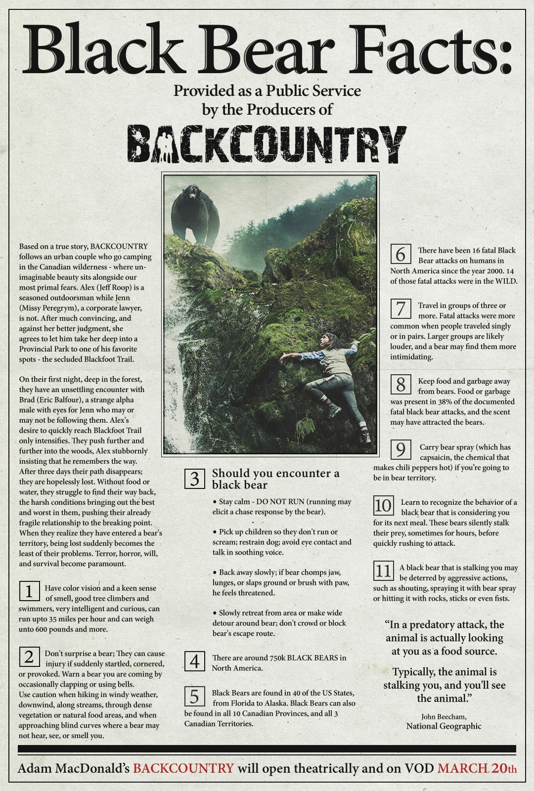Backcountry Vintage PSA Poster 1 - Backcountry Lays Down the Rules of the Wild