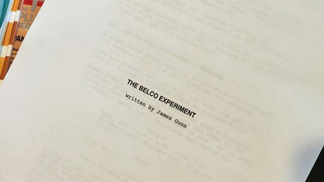 belco experiment - James Gunn and Greg McLean Team for The Belco Experiment