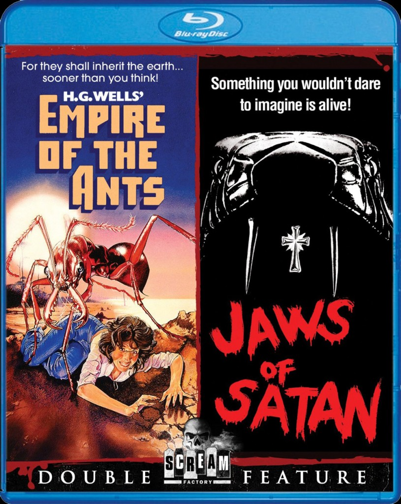 empire ants jaws satan 815x1024 - Scream Factory Announces Two Creature Double Feature Blu-rays
