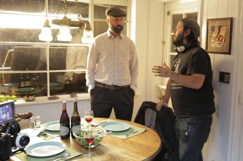 James Cullen Bressack & Tom Green on set of BETHANY