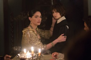 L R Janet Montgomery as Mary Sibley and Oliver Bell as her son 300x200 - Increase Returns in these Images and Preview of Joe Dante-Directed Salem Episode 2.07
