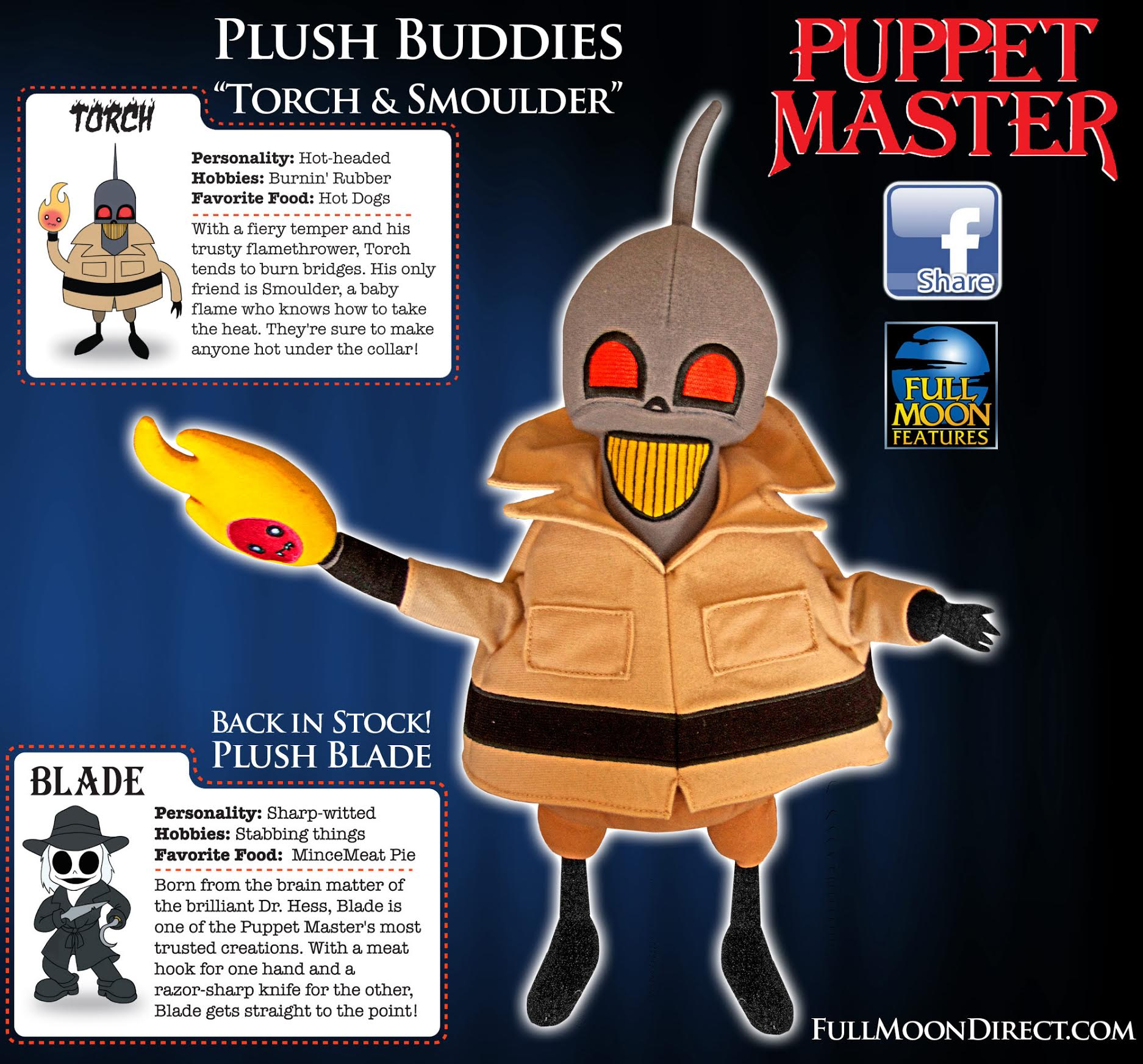 fullmoonplushies1 - Torch and Smolder Join Blade in Full Moon Entertainment Plush Dolls Line-Up
