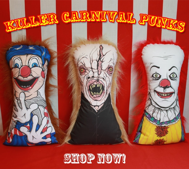 punks - Horror Decor Unleashes Poltergeist, Pennywise, and The Funhouse Carnival Dolls