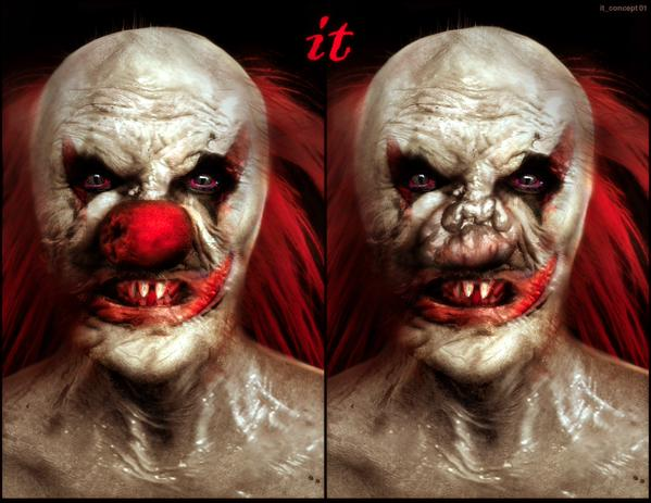 it4 - Vincenzo Natali Reveals Unused Predator and Pennywise Concept Art