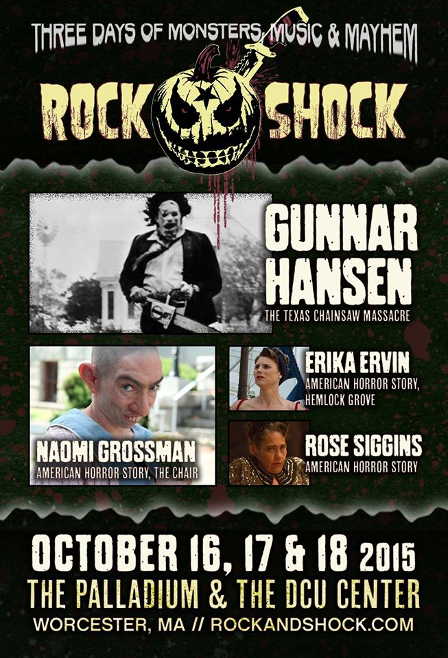 rockandshock2 - Early Rock and Shock Guests Include a Legend, Three Leatherfaces, and Members of the Freak Show