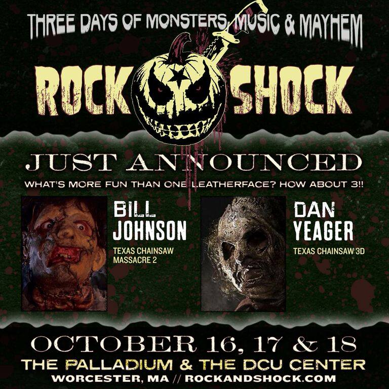 rockandshock3 - Early Rock and Shock Guests Include a Legend, Three Leatherfaces, and Members of the Freak Show