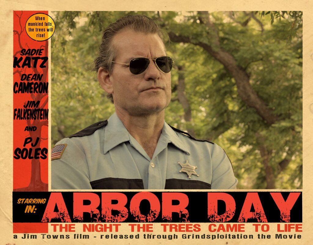 Arbor Day by Jim Towns 1024x803 - Grindsploitation Anthology Unearths Collection of Fake Trailers, Deleted Scenes, and Shorts