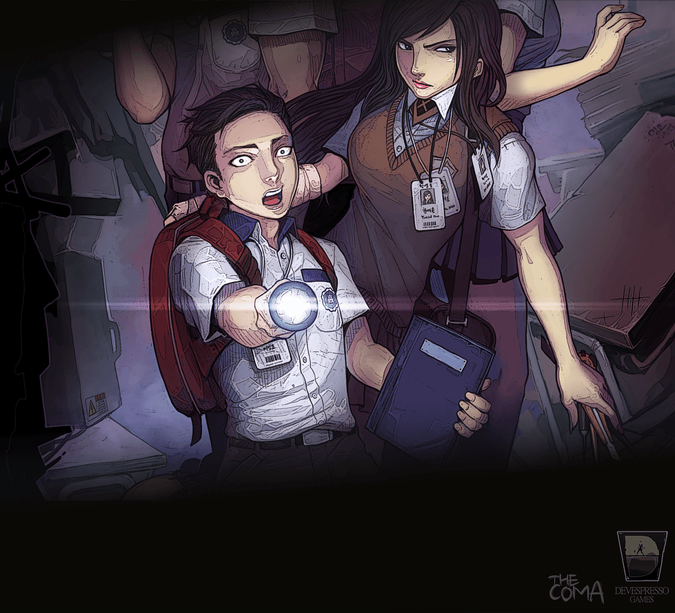The Coma poster - New Game The Coma Proves That School Can Be Terrifying