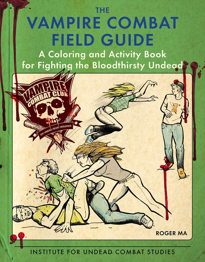 Coloring book with guide - Vampire Combat Coloring Book