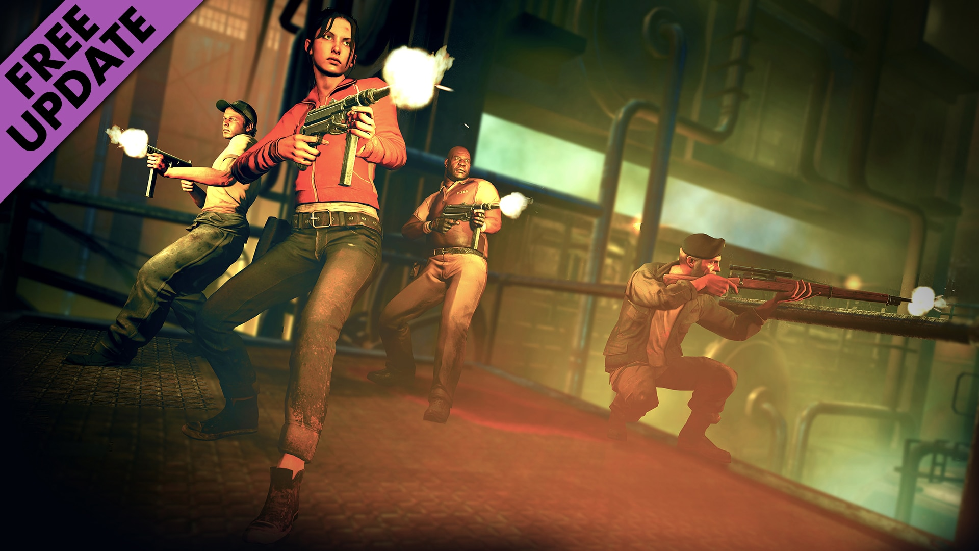 zombie army update - Left 4 Dead Cast Joins Zombie Army Trilogy in Free Update