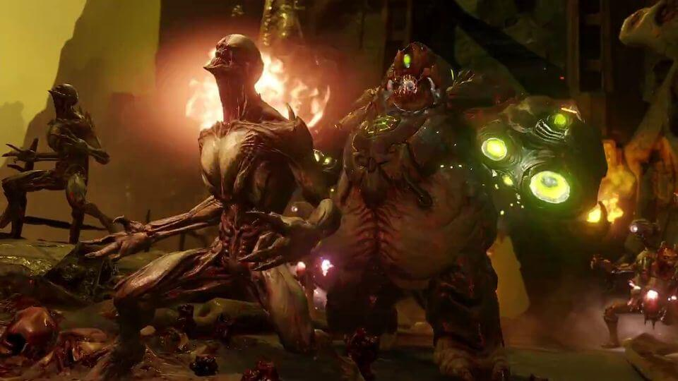 DOOM MONSTERS 1 - Doom Reboot Multiplayer Video Takes Aim; Gibs the Competition