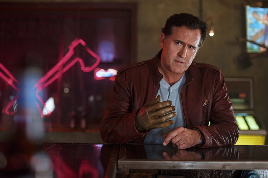 Bruce Campbell as Ash Episode 101 1024x683 - Ash vs. Evil Dead - We Review the First Two Episodes!