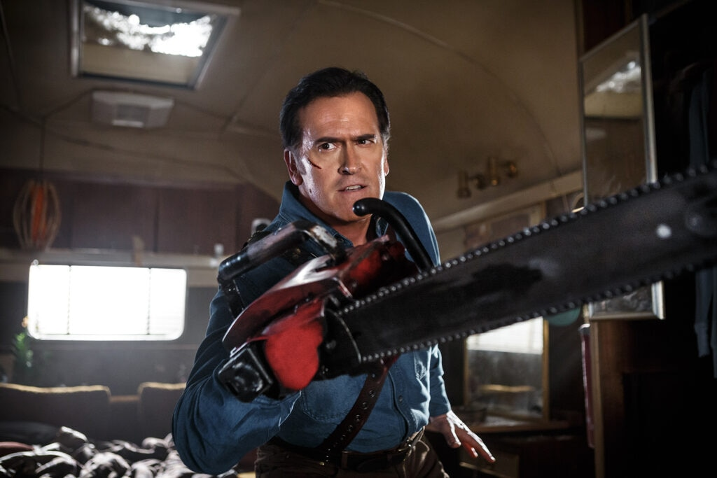 Bruce Campbell as Ash Episode 101 5 1024x683 - Ash vs. Evil Dead - We Review the First Two Episodes!