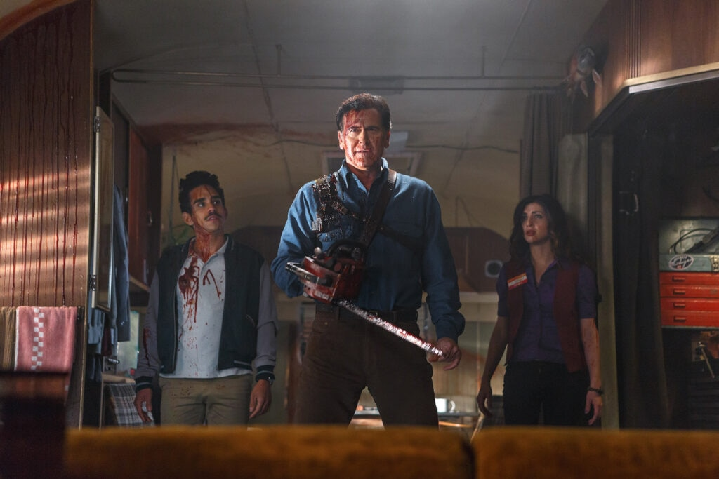 Ray Santiago as Pablo Bruce Campbell as Ash Dana DeLorenzo as Kelly Episode 101 1024x683 - Ash vs. Evil Dead - We Review the First Two Episodes!
