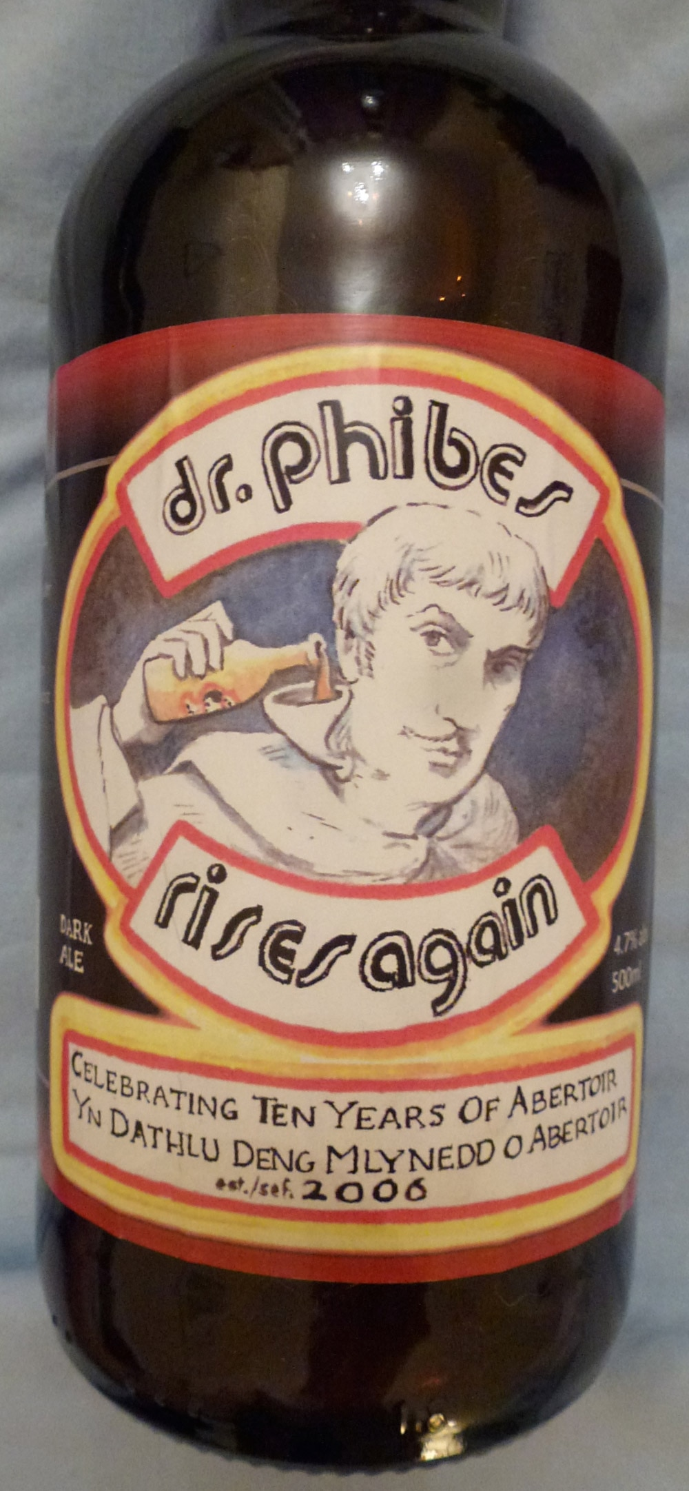 Abertoir: The International Horror Festival of Wales puts out a special beer each year. This year one of the ales honored Vincent Price.