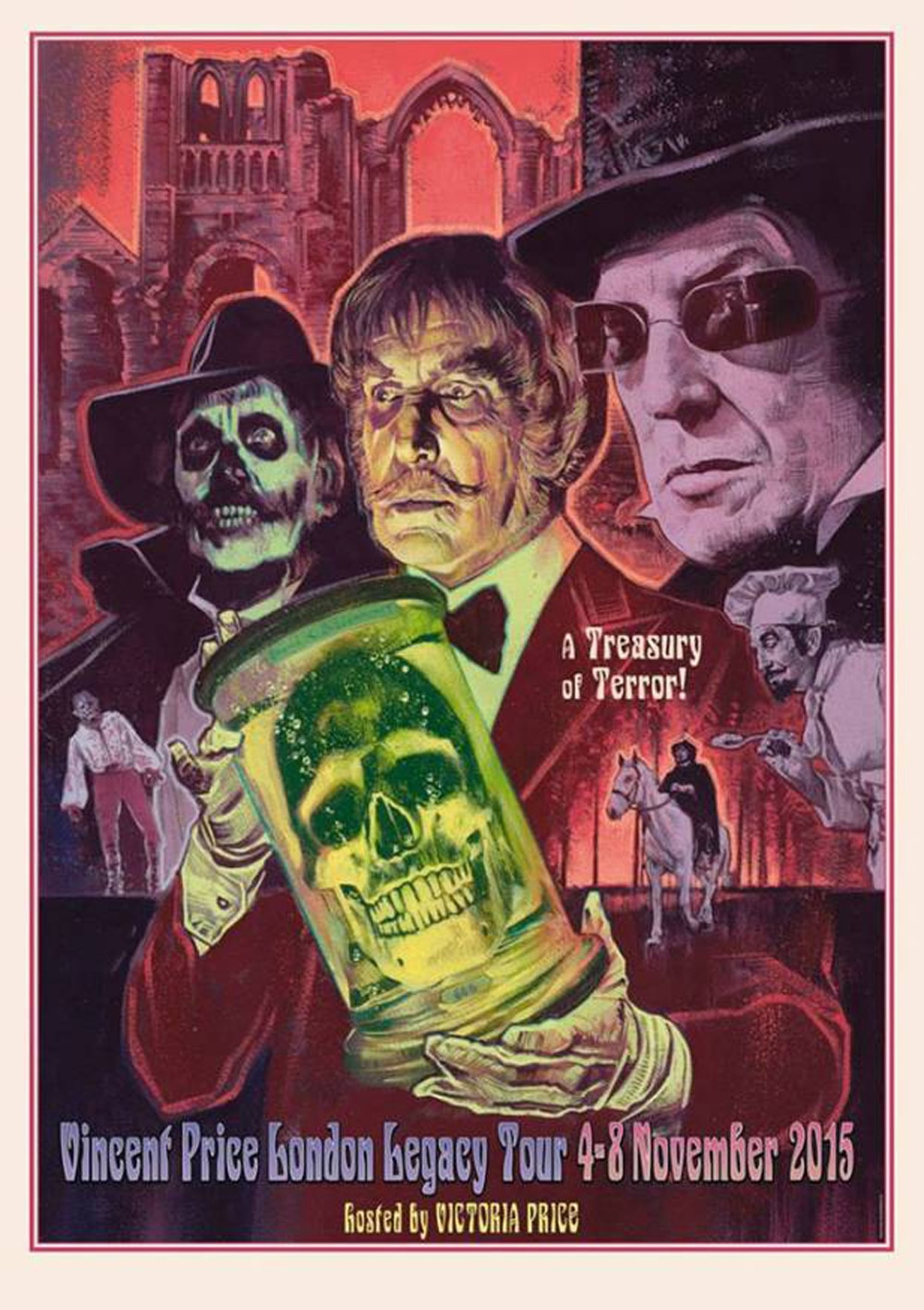 Artist Graham Humphreys' artwork for the Vincent Price Legacy Tour.