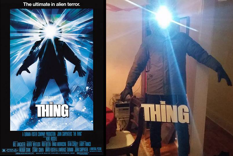 the thing costume - Creative Halloween Costume Recreates The Thing Movie Poster