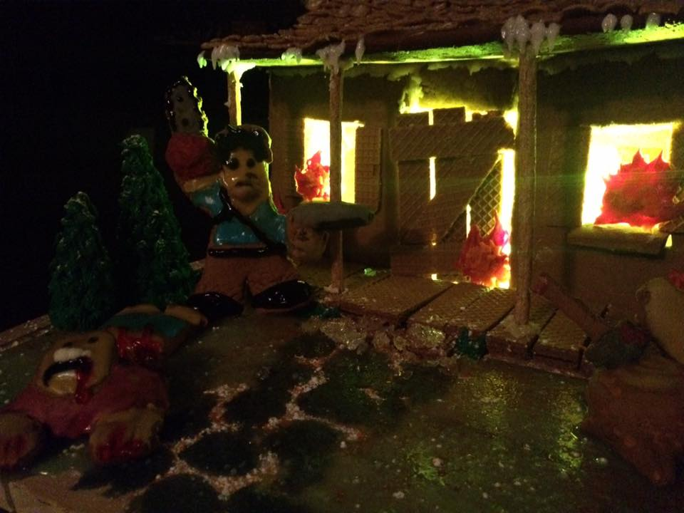 Evil Dead Cabin 6 - Evil Dead Gingerbread Cabin Is Deliciously Evil
