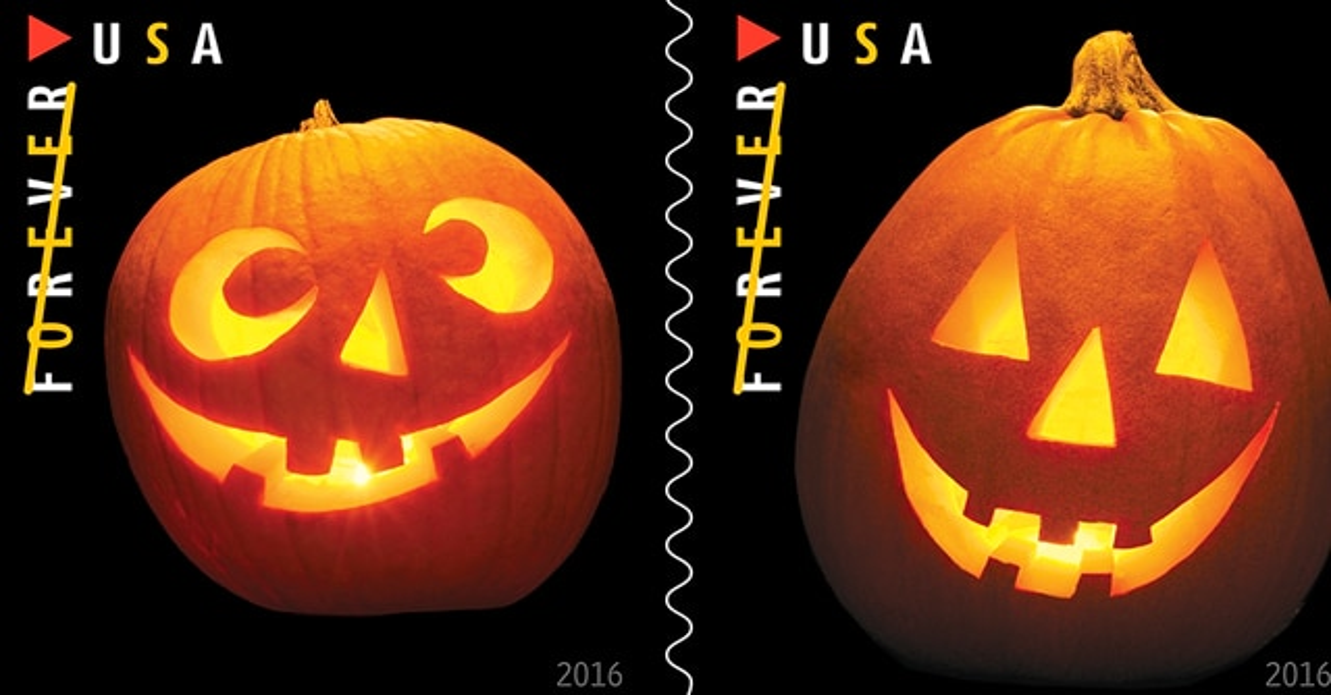 halloweenstampss - U.S. Postal Service Unveils New Halloween-Themed Stamps for 2016