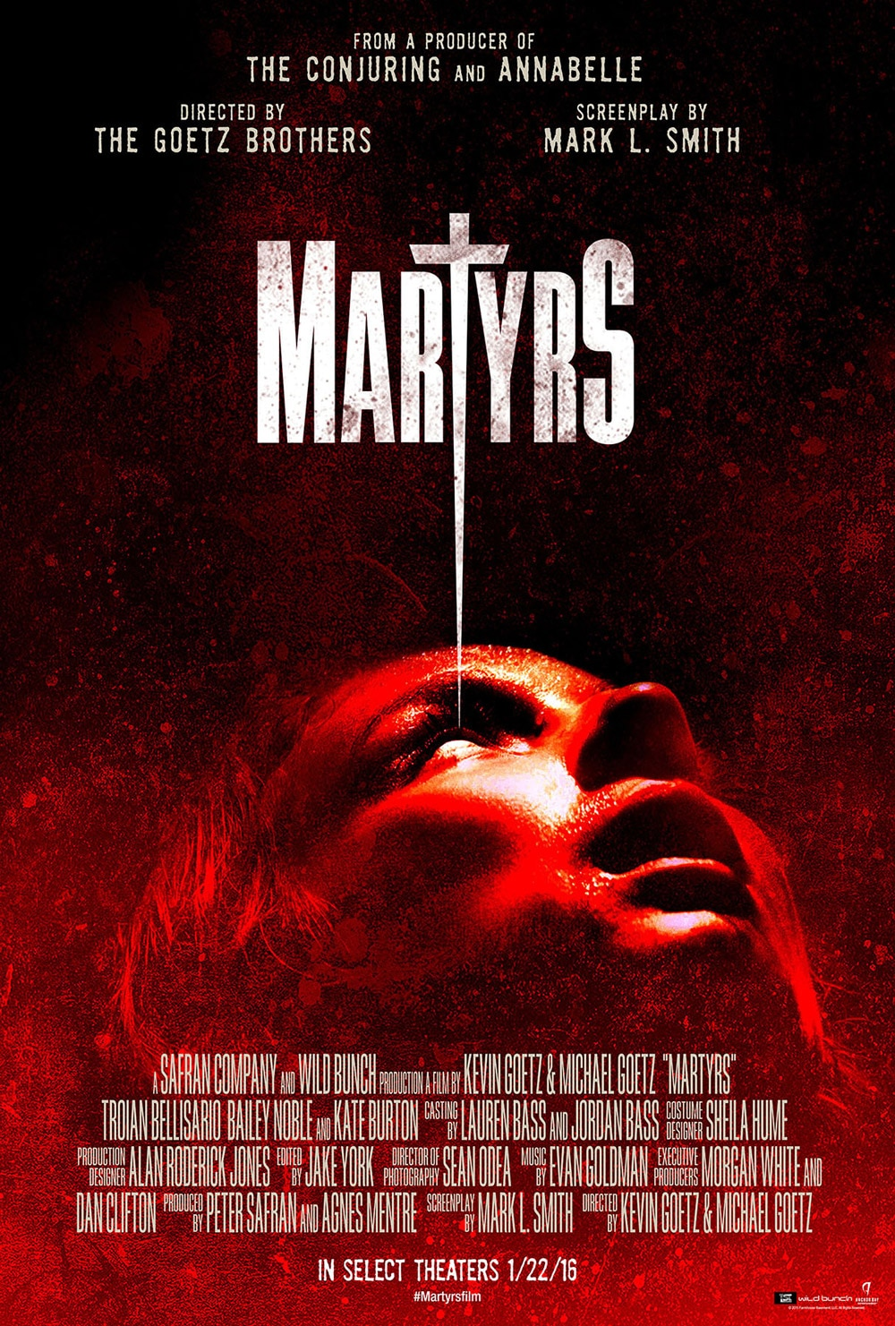 martyrs theatrical poster - Martyrs Trailer Deals Out Unspeakable Pain