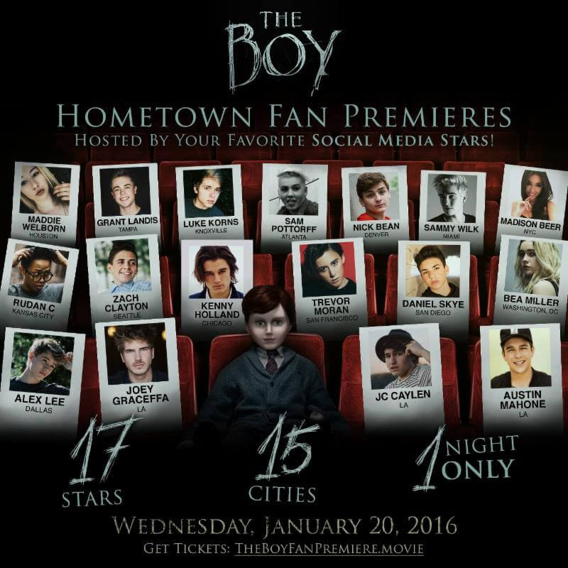 The Boy red carpet 1 - Tickets on Sale for Red Carpet Screenings of The Boy