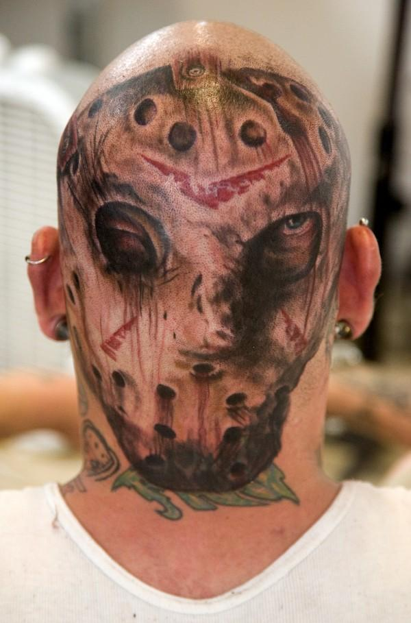 9 of the worst horror tattoos dread central. Black Bedroom Furniture Sets. Home Design Ideas