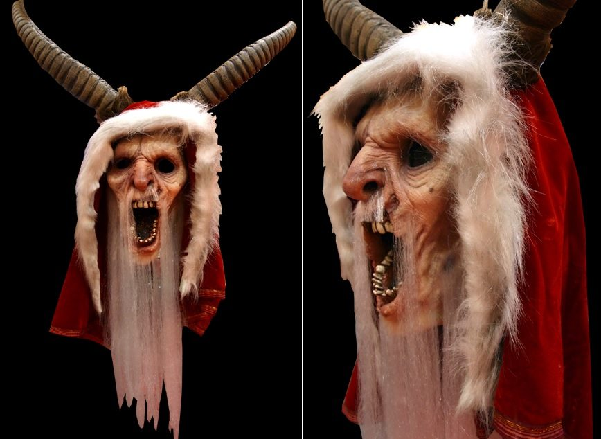 krampus mask - 10 Awesome Horror Movie Masks Coming This Halloween Season