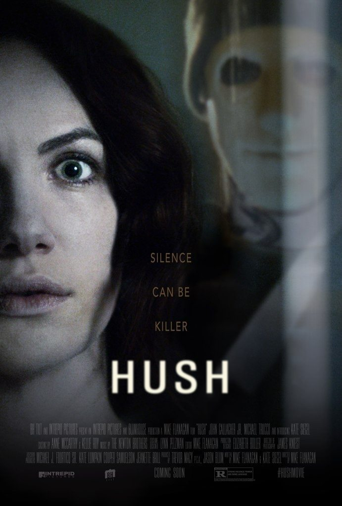 hush poster 691x1024 - SXSW 2016: Mike Flanagan and Kate Siegel Talk Their New Thriller Hush and Upcoming Projects