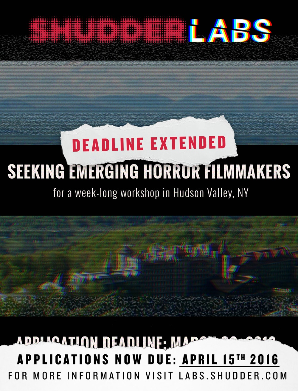 shudderlabs new - Shudder Labs Extends Submission Deadline and Reveals Masters-in-Residence