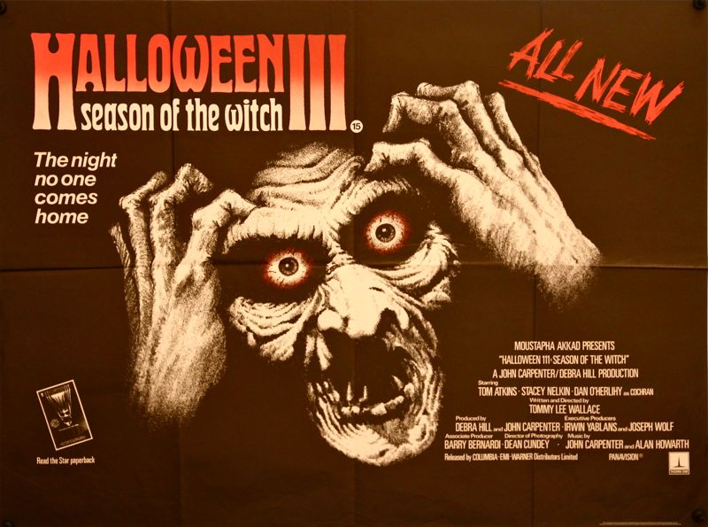 halloween iii season of the witch original quad 1982 scary artwork 2718 p - Top 8 Most Worthy Horror Franchise Third Installments