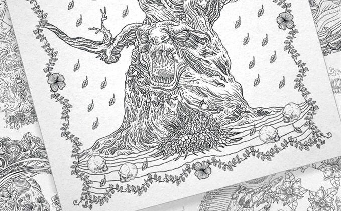 TheBeautyOfHorror Preview Gallery2 679x422 - IDW Releasing Alan Robert's The Beauty of Horror Adult Coloring Book
