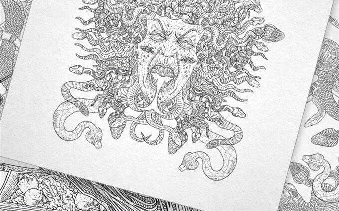 TheBeautyOfHorror Preview Gallery3 679x422 - IDW Releasing Alan Robert's The Beauty of Horror Adult Coloring Book