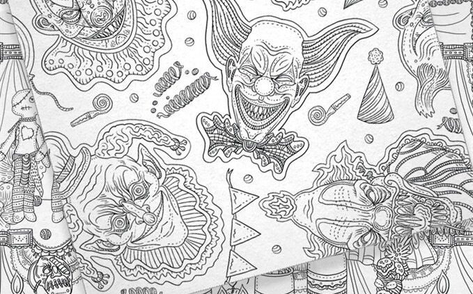 TheBeautyOfHorror Preview Gallery4 679x422 - IDW Releasing Alan Robert's The Beauty of Horror Adult Coloring Book