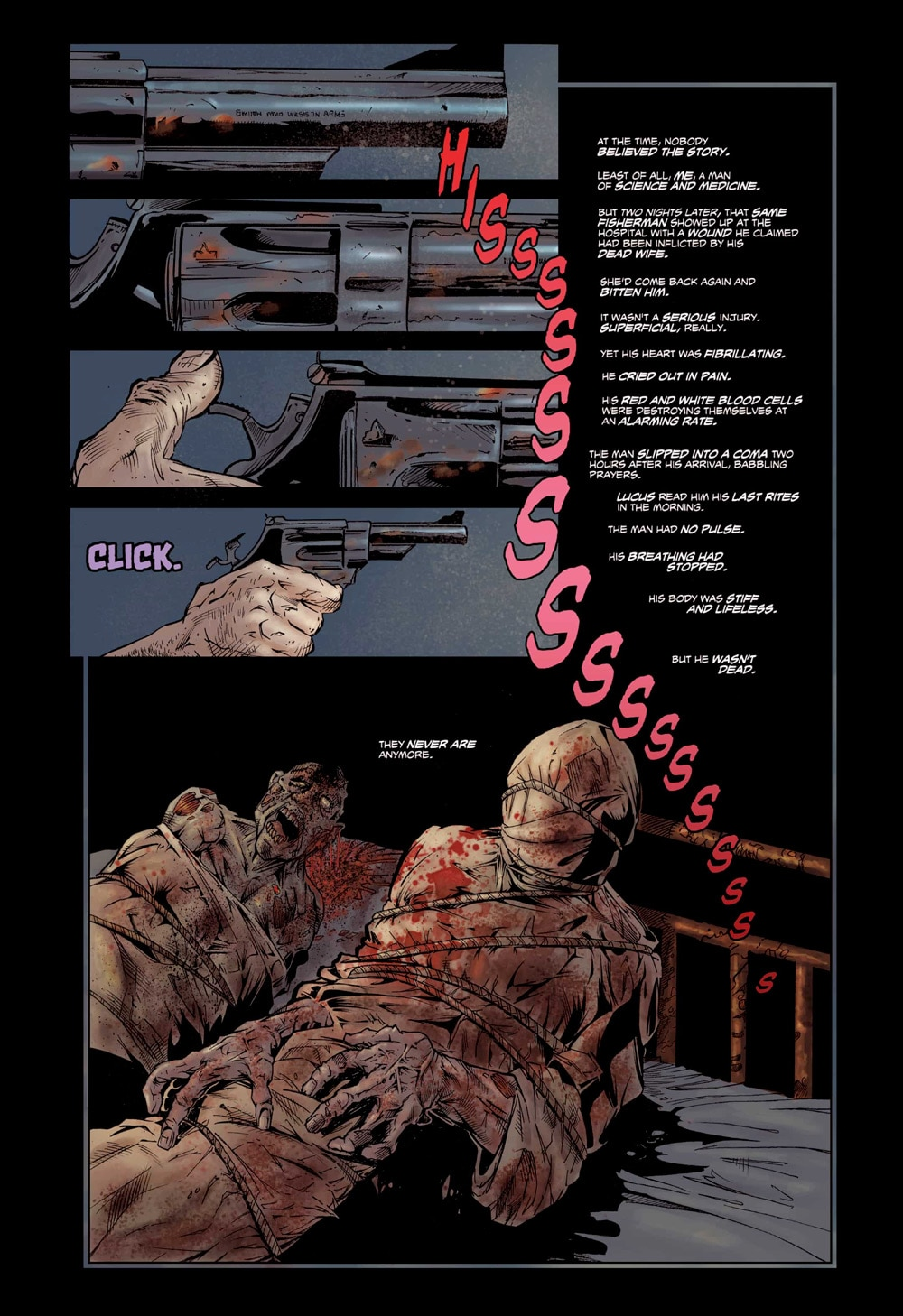 ZOMBIE sample 1 - Eibon Press' Lucio Fulci's Zombie Sells Completely Out in Less Than 24 Hours; Reprint Coming When?
