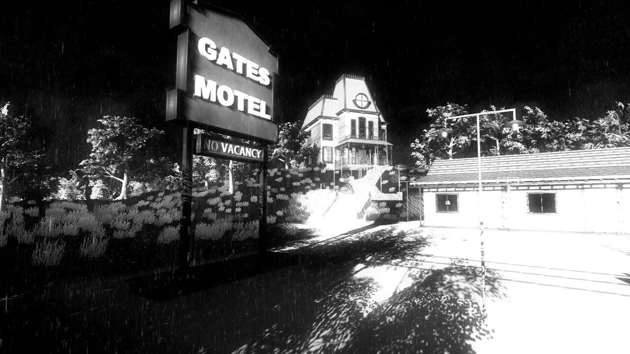 gates motel2 2 - Alfred Hitchcock's Psycho Gets a Video Game Adaptation... Kind of