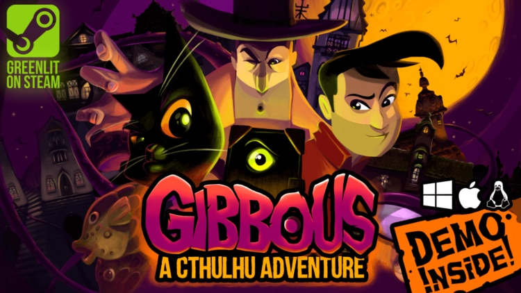 gibbous a lovecraft adventure1 1 750x422 - New Game Gibbous - A Cthulhu Adventure Explores Lovecraft's Funny Side