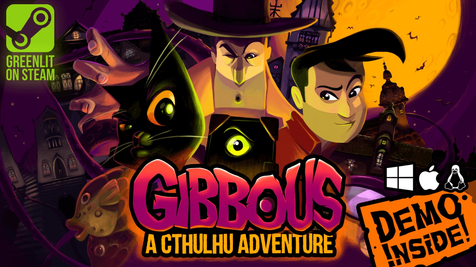 gibbous a lovecraft adventure1 1 - New Game Gibbous - A Cthulhu Adventure Explores Lovecraft's Funny Side